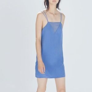 ZARA strappy slip dress